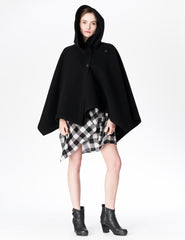 morgane le fay wool cape coat with hood