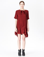 morgane le fay a-line silk dress