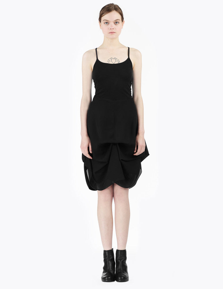 morgane le fay signature black silk skirt