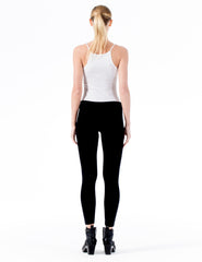 capri leggings with pocket and morgane le fay logo detail.