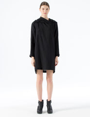 oversized wrap jacket with hood and side closure