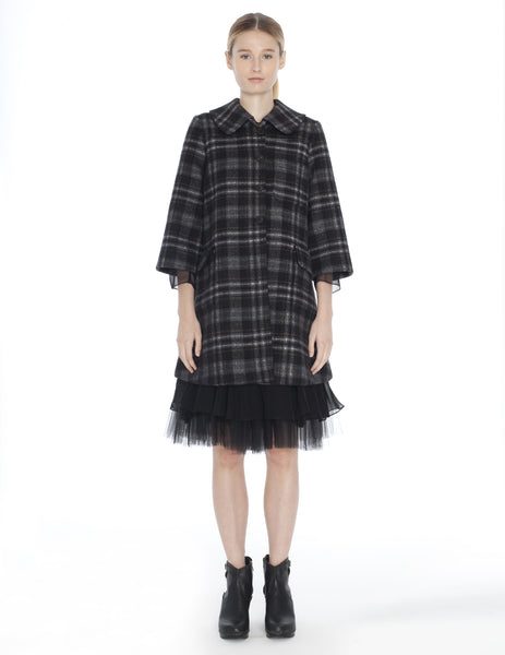 plaid hulda coat