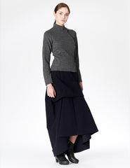 morgane le fay moleskin skirt that adjusts in length