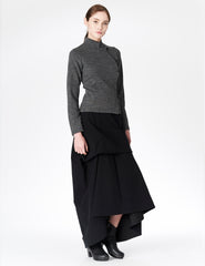 morgane le fay floor length moleskin skirt