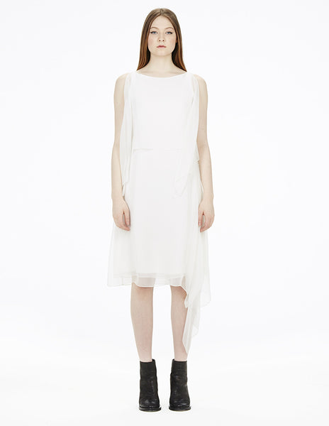 morgane le fay white silk dress
