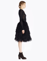 morgane le fay black feather skirt