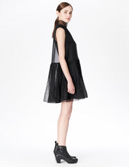 morgane le fay short, silk organza dress.