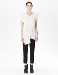 morgane le fay white silk blouse