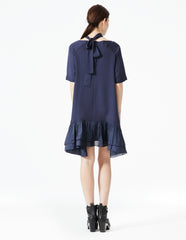 morgane le fay dress with tie collar