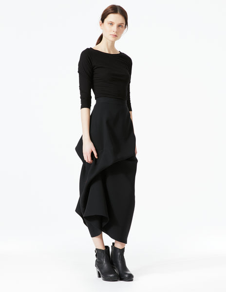 morgane le fay long skirt with side zipper. made in new york.