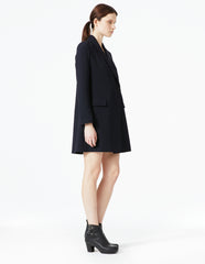 morgane le fay black structured tuxedo jacket