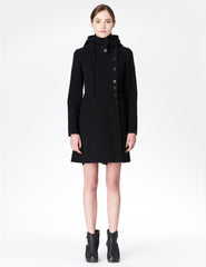 morgane le fay black jacket with hood