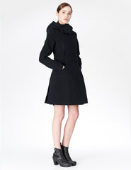 morgane le fay fitted jacket with hood