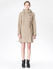 morgane le fay fitted jacket with hood and seam sleeve details