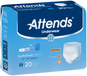 Attends® Super Plus Maximum Absorbency Underwear size youth/small