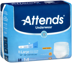 Attends® Extra Absorbency Underwear size x-large
