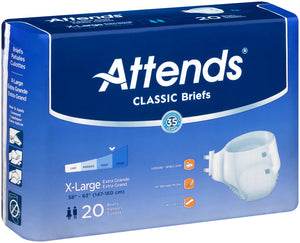 Attends® Breathable Briefs Extra Absorbency size x-large
