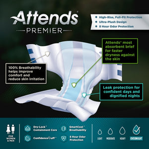 Attends® Premier Brief/Diaper