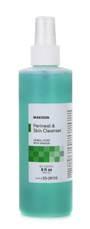Rinse-Free Perineal Wash McKesson Liquid 8 oz. Pump Bottle Herbal Scent