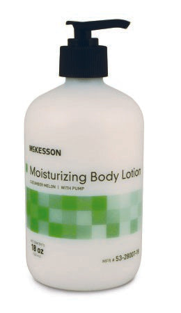 Hand and Body Moisturizer McKesson Pump Bottle Cucumber Melon Scent Lotion