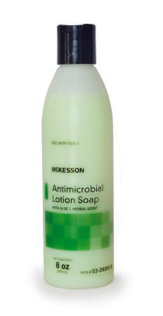 Antimicrobial Soap McKesson Lotion 8 oz. Bottle Herbal Scent