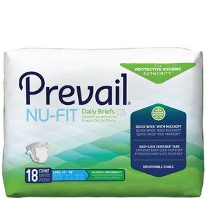 Prevail® Nu-Fit® Unisex Adult Incontinence Brief