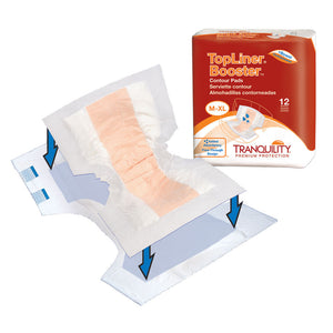 Tranquility® Topliner™ Booster Contour Incontinence Booster Pad