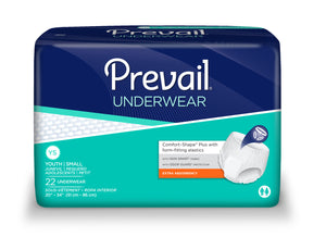 Prevail® Extra Absorbacy Incontinence Underwear, size youth/small
