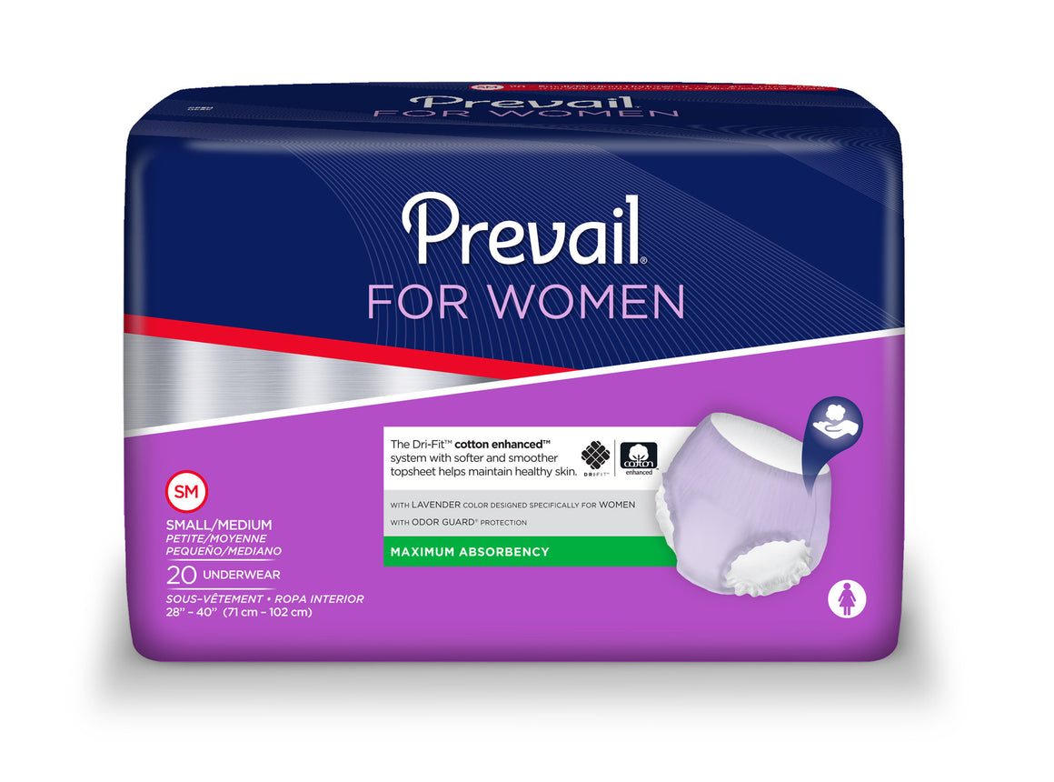 Prevail® Underwear for Women, size small/medium