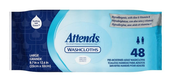Attends® Pop-Up Washcloths