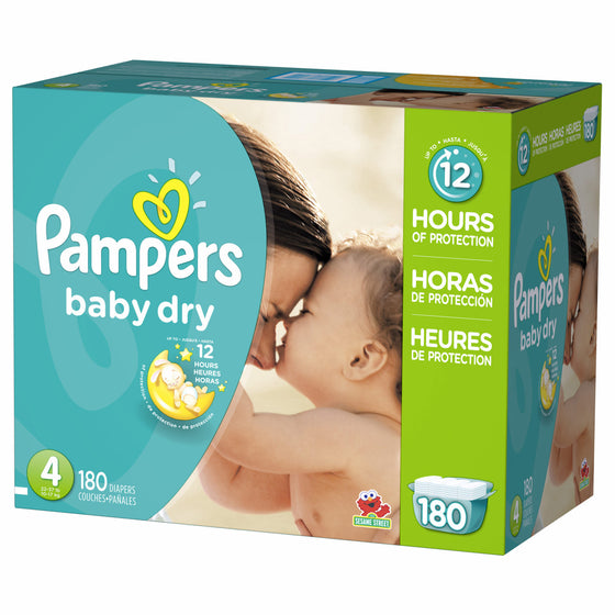 Pampers Baby Dry Diapers, Size 4