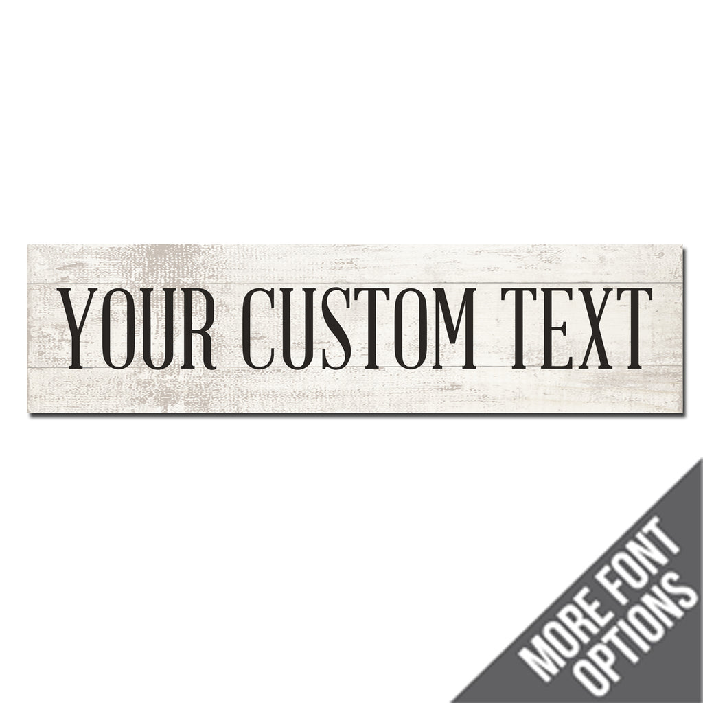 Custom Metal Sign | Faux White Wood