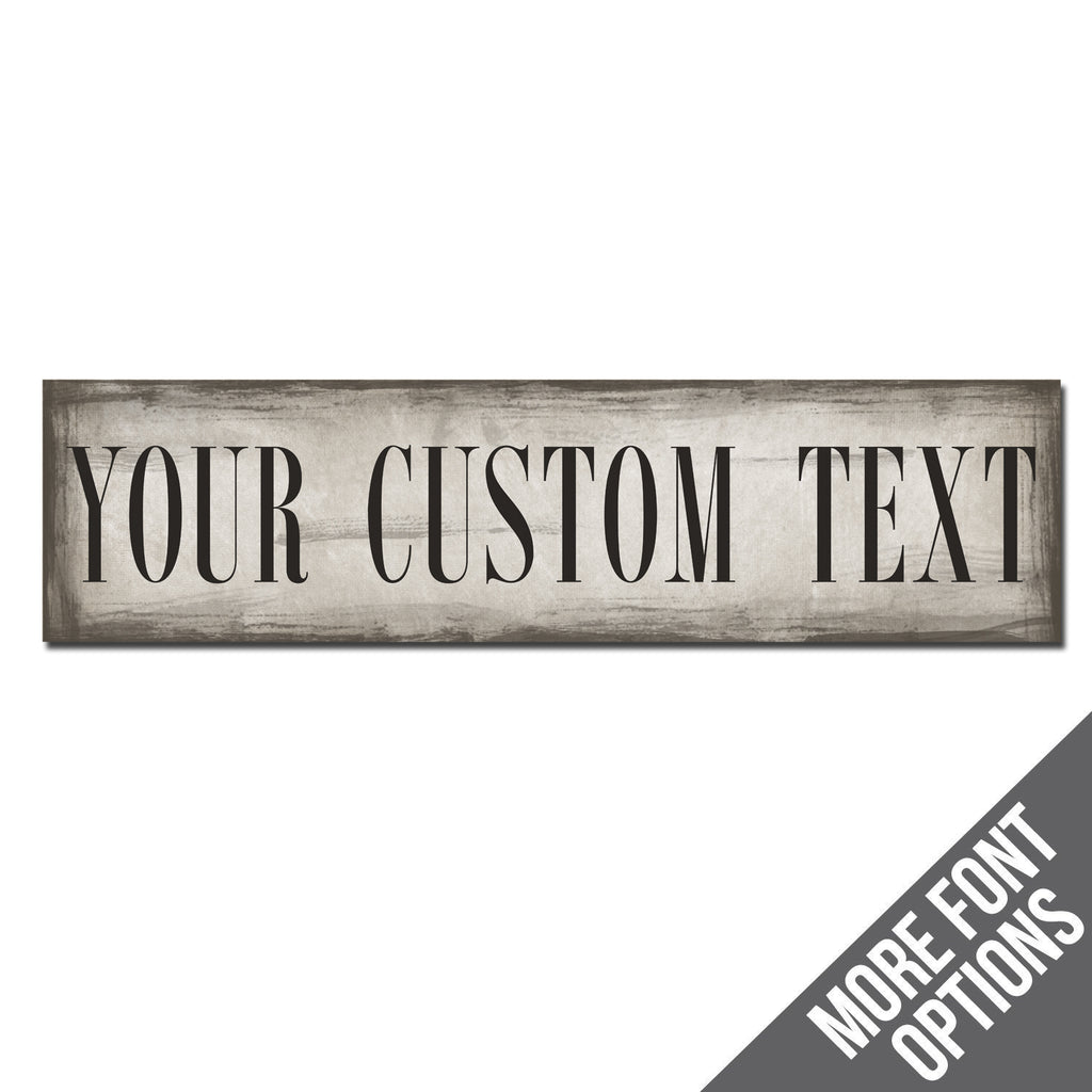Custom Metal Sign | Faux Brushstrokes