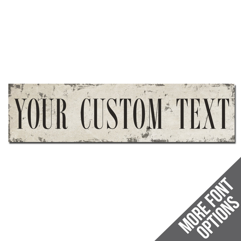 Custom Metal Sign | Rustic Chippy