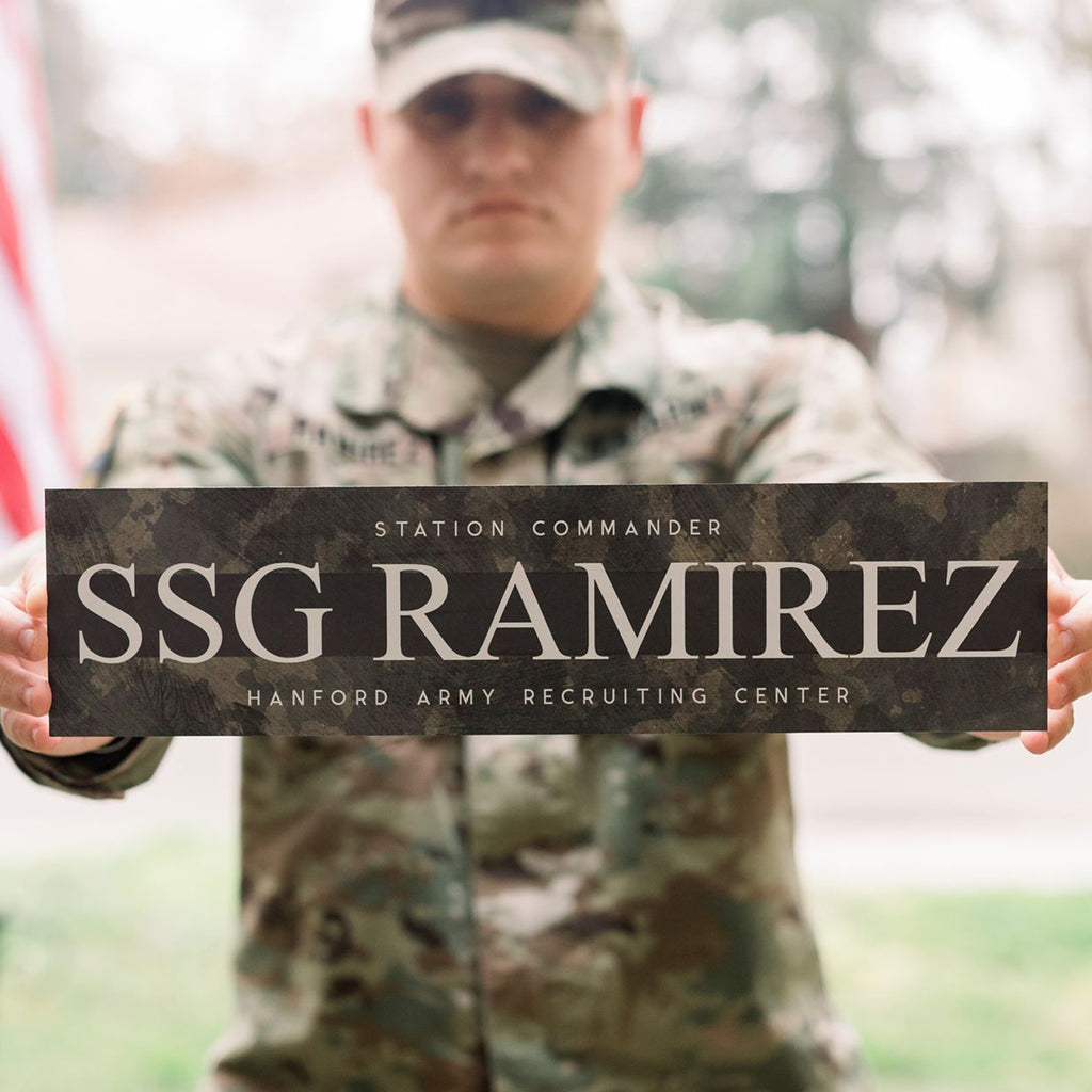 Metal Military Sign | Customizable