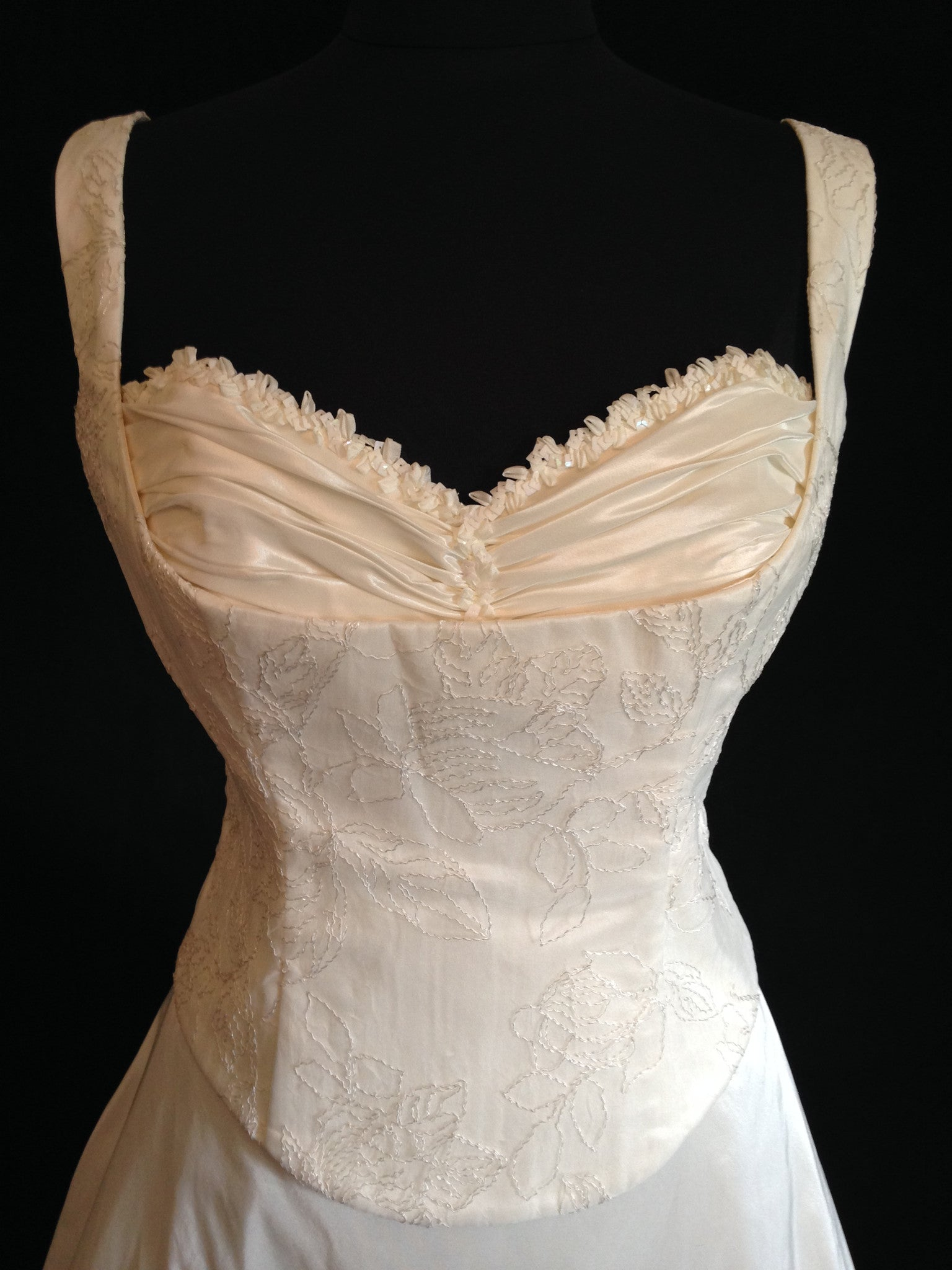 55c2a1ed9f0cb Lambert-creations style Jeanne lace bodice with straps, A line skirt
