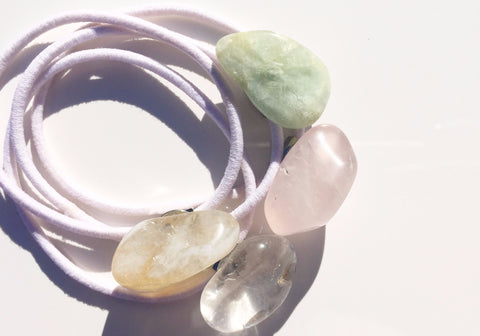 Healing Crystal Hair Ties - 4 Mix Set