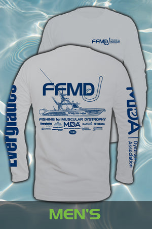 Long Sleeve  FFMD Monochromatic Performance Shirt (Dri-Fit)- Grey/Navy