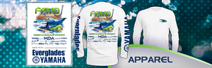 Long Sleeve FFMD Boat Marlin Dolphin Performance Shirt (Dri-Fit) - White