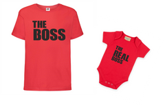The Boss, Tshirt and Baby Grow Set