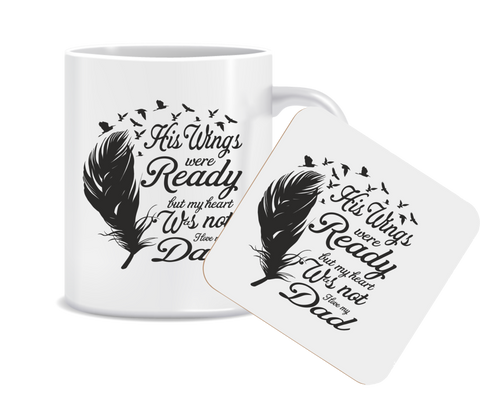 His Wings Were Ready Mug and Coaster Set
