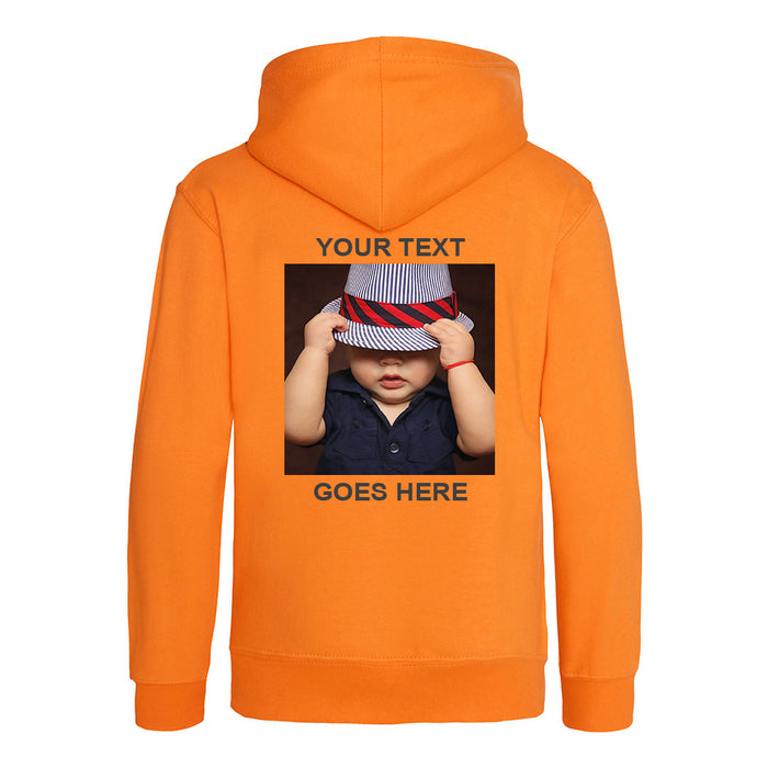 Kids Hoodie - Front & Back Print (Photo Upload with Text) - Personalised Custom Print Products Fun Printz Gainsborough