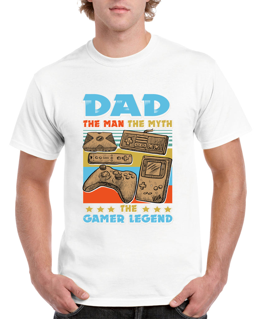 Dad, The Man, The Myth, The Gamer Legend Tshirt - Personalised Custom Print Products Fun Printz Gainsborough