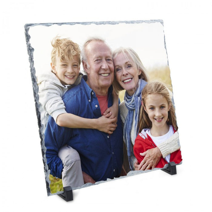 Personalised Photo Slate - 20cm x 20cm Square - Personalised Custom Print Products Fun Printz Gainsborough