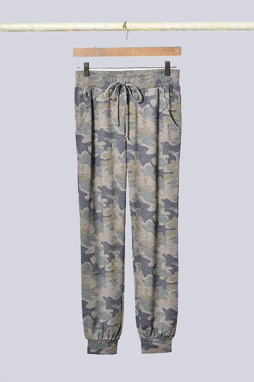 Camouflage Knit Joggers