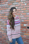 Mauve Fair Isle Sweater