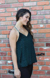 Dance The Night Away Green Velvet Cami