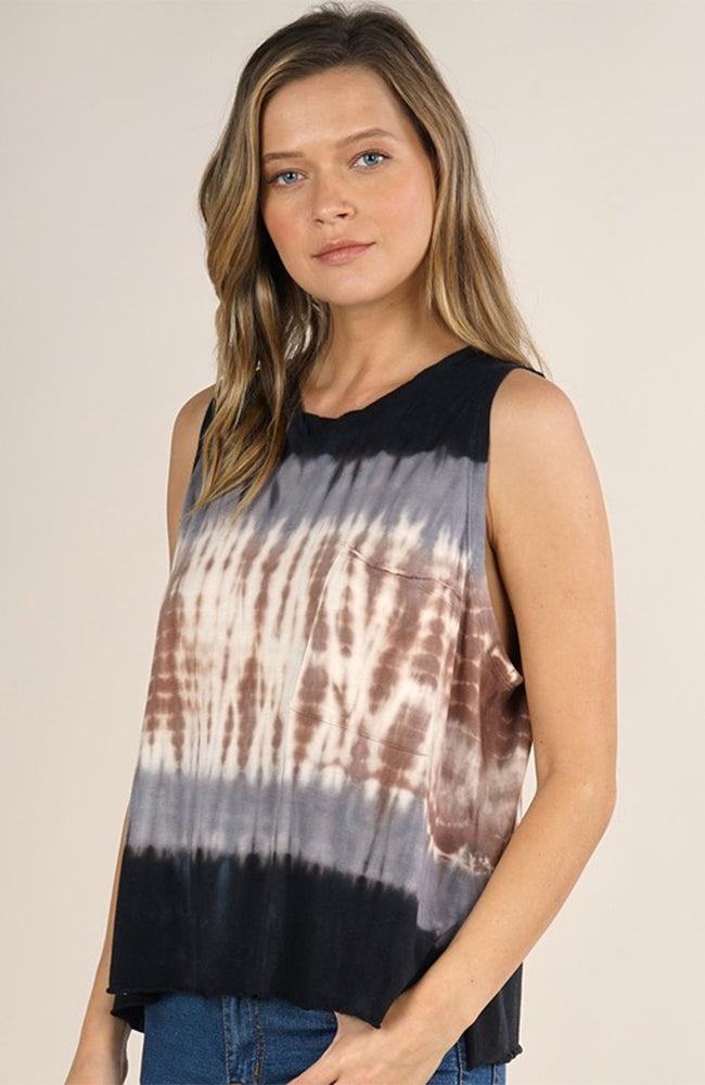 Tie Dye Muscle Tank Top By Love Stitch