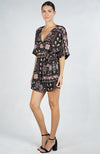 Love Stitch Moroccan Print Faux Wrap Mini Dress Side