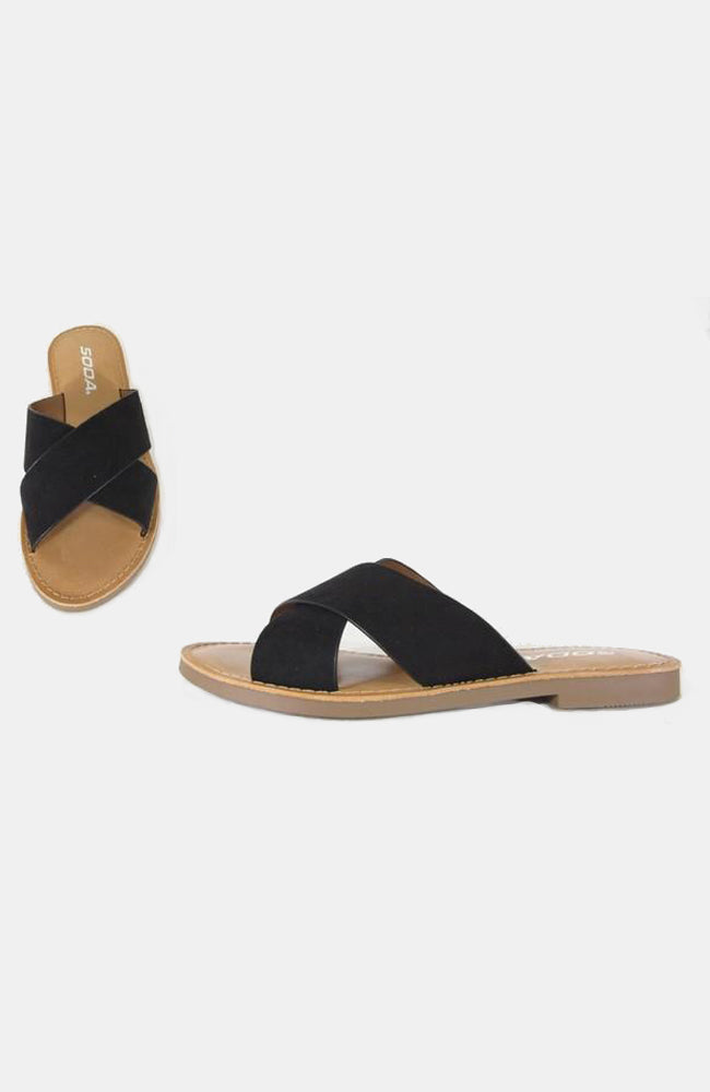 Lunacy Sandals by Soda in Black